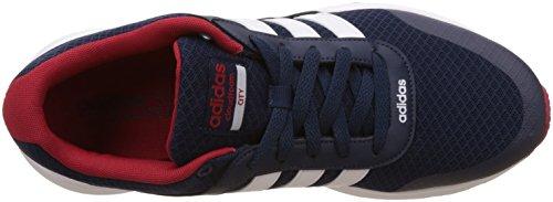 adidas Cloudfoam Vs City, Chaussures de Running Entrainement Homme, Bleu (Maruni/Ftwbla/Rojpot), 44 EU