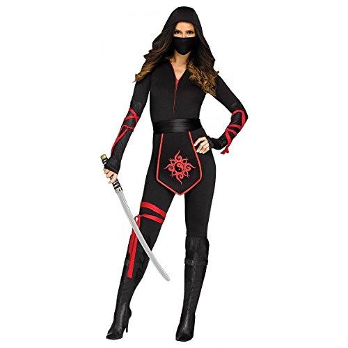 Ninja Warrior Adult Costumes (Fun World Women's Sexy Ninja Warrior Adult Costume, Multi, Medium)