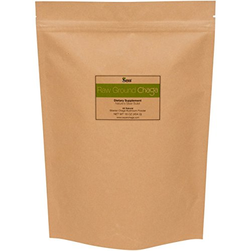 Sayan Siberian Raw Ground Chaga Powder 1 Lbs (454g)   Wild Forest Mushroom Tea   Powerful Adaptogen Antioxidant Supplement   Support for Immune System, Digestive Health and Inflammation Reduction
