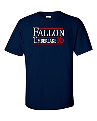 "Jimmy Fallon Justin Timberlake ""Fallon Timberlake For President 2016"" T-Shirt"