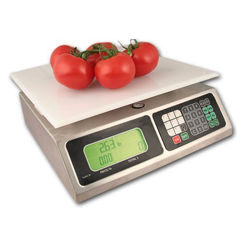 TORREY | 40 Lb. Capacity | Price Computing - Digital Retail Scale | LPC-40L | ZIEIS BigTop 12 x 12 EZ Clean Platform | AC/DC | Surge Protector | 0.01 Pound Accuracy by TORREY by TORREY