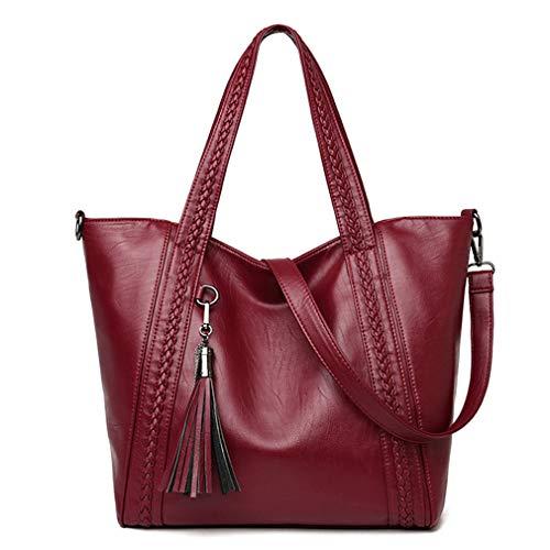 Shoulder Bags 15cm Purple Women 32cm Handbags 31cm Gray Bags Knitting d5nqwU
