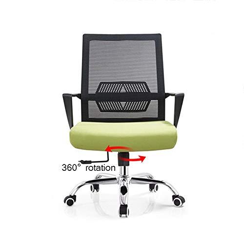 WYY HPLL kontorsstol kontorsstol, ergonomisk datorstol mellanrygg nät skrivbordsstol ländrygg stöd verkställande justerbar pall rullande svängbar stol, fri funktion svängbar stol