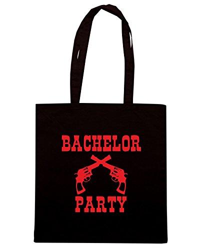 T-Shirtshock - Bolsa para la compra MAT0010 Bachelor Party Guns Maglietta Negro
