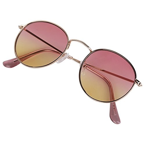 SunnyPro Designer Round Eyeglasses For Women 70 Cool Stylish 2 Tone Lens Gold Sunglasses - Glasses Seventies