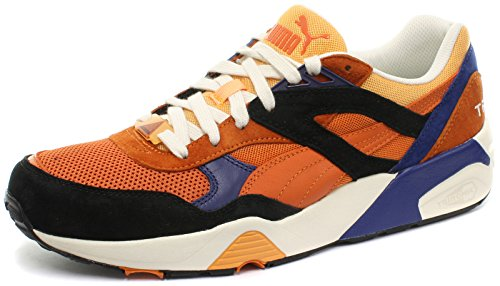 Puma black Orange Uomo Burnt R698 Sneaker qwYxXHrY