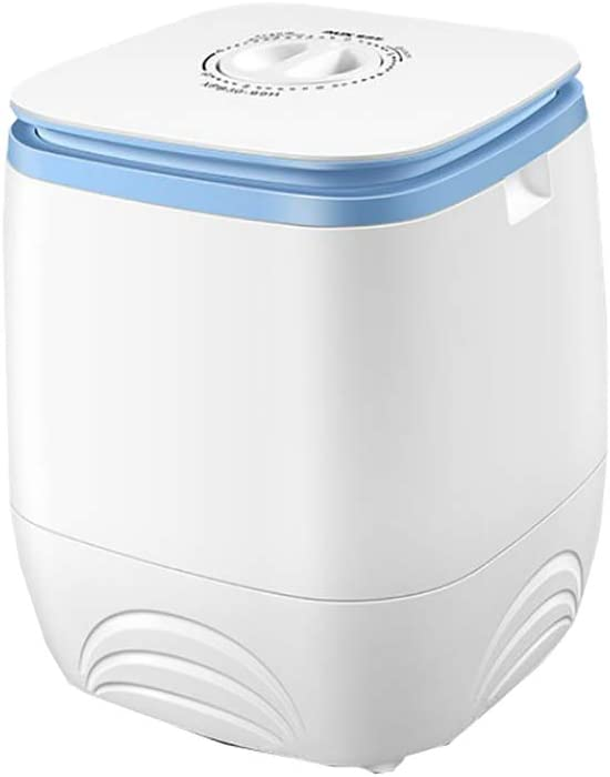 XIAOFEI Lavadora PortáTil Barril Simple 3l Mini Dispositivo Lavado Abierto Semi AutomáTico Carga Superior Gran Capacidad, Tiempo Lavado Y DeshidratacióN Ajustable,Blanco