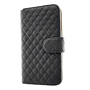 Piaopiao Luxury PU Leather Flip Case Cover with Card Slot and Stand for Samsung Galaxy Mega 5.8 I9150 , Black