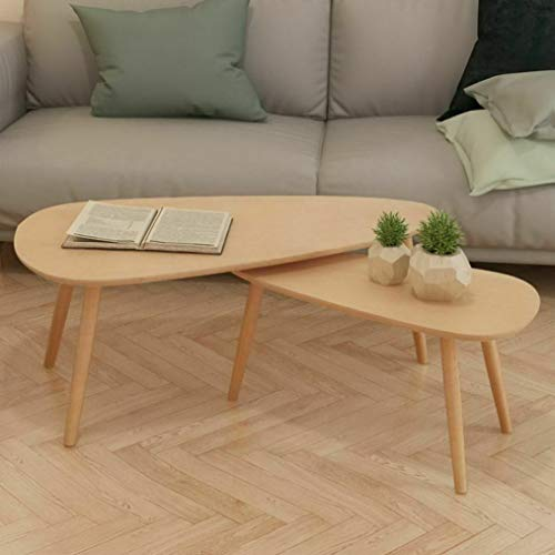 Mikash Solid Wooden Coffee Table Set 2 Piece Side Couch Sofa Multi Colors | Model NGHTSTND - 282 |