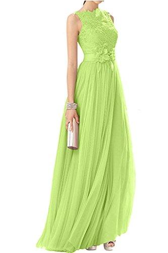 mia Tuell Abendkleider La Braut Damen Promkleider Rosa Gruen A Abschlussballkleider Rock Langes Lemon Festlichkleider Spitze Linie Tapqdaw