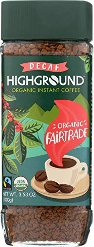 Highground Organic Instant Decaf Coffee, 3.53 Ounce