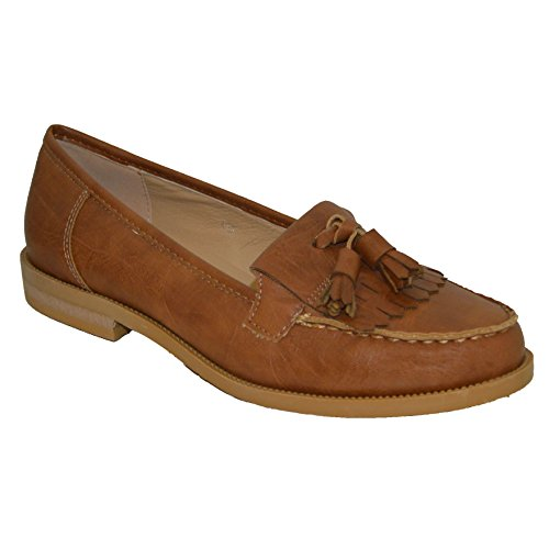 TASSLE WOMENS LADIES SHOES NEW FRINGE LOAFERS I7xROopq