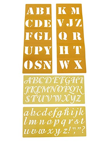 AlphabetStencils 2 inch, CaligraphyBlock StencilLetters Upper and Lower Case