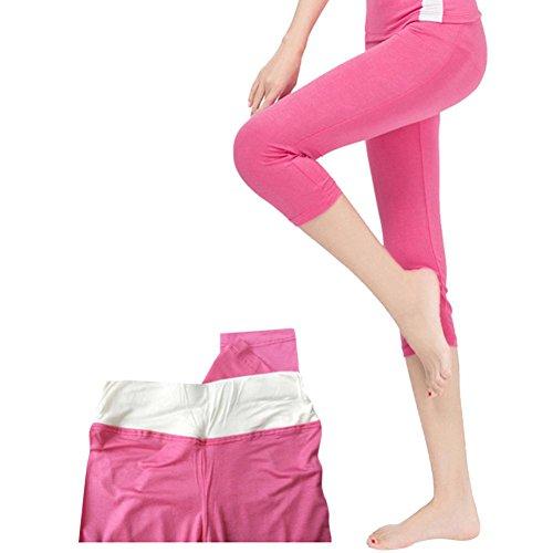 Leggings Pantaloni Nero S Collant Donna sportive Caldo 4 Styledresser Elastico XL Rosa Pizzo Yoga Grigio 3 Fitness Pantaloni Capri Leggings Basic Yoga Maglia in Donna Fqxdz