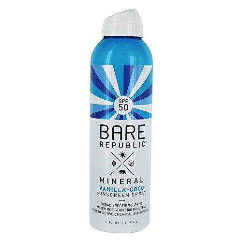 Bare Republic Mineral SPF 50 Sport Sunscreen Spray, Vanilla-Coco (6 oz) (Continuous Wallet Check)