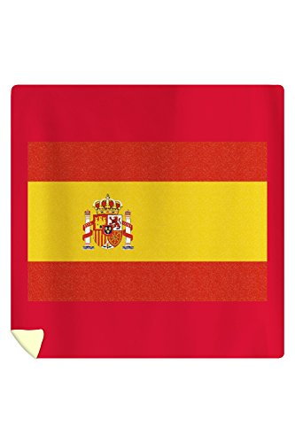 Spain Country Flag - Letterpress (88x88 Queen Microfiber Duvet Cover) by Lantern Press