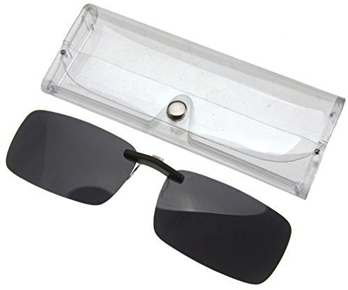 ecd3bea424 Frameless Driving Polarized Clip-on Glasses Lens Sunglasses UV400 Dark Grey  - Buy Online in KSA. Kitchen products in Saudi Arabia.