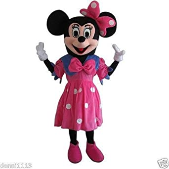 Minnie Mouse Pink Mascot Costume Adult Size For Birthday Girl Party Event Halloween  sc 1 st  Amazon.com & Amazon.com: Minnie Mouse Pink Mascot Costume Adult Size For Birthday ...