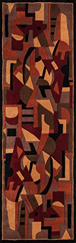 - Momeni Rugs NEWWANW108POM26C0 New Wave Collection, 100% Wool Hand Carved & Tufted Contemporary Area Rug, 2'6