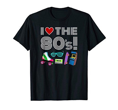 I love the 80s T-Shirt - 1980s I Heart the Eighties Tee ()