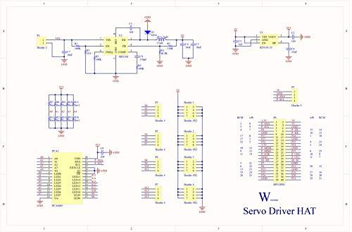 MakerFocus PWM Servo Motor Driver IIC Module 16 Channel PWM Outputs 12 Bit Resolution I2C Compatible with Raspberry Pi 4 3B+ 3B Zero/Zero W/Zero WH and Jetson Nano
