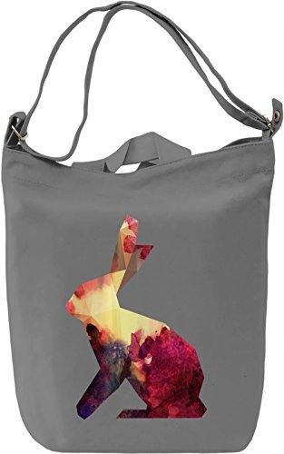 Colourful Rabbit Borsa Giornaliera Canvas Canvas Day Bag| 100% Premium Cotton Canvas| DTG Printing|