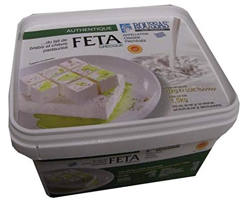 Roussas Greek Feta Cheese, 1 kg (2.2 lb)