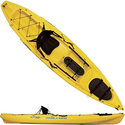 Amazon Com Ocean Kayak Prowler Big Game Angler Classic Sit On Top Fishing Kayak 12 Feet 9 Inch Yellow Sports Outdoors