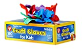 Hygloss Products 98100 Craft Gloves for Kids - Nitrile Latex-Free Protect Your Hands-Multiple Uses-Disposable-5 Assorted Colors-100 Pack