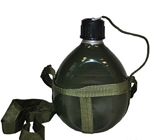 generique Army Soldier Military Canteen Combat Green Water Drink Pouch Costume Accessory