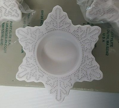 Partylite Snow Drifters, Set of 3 Snowflake Tealight Holders