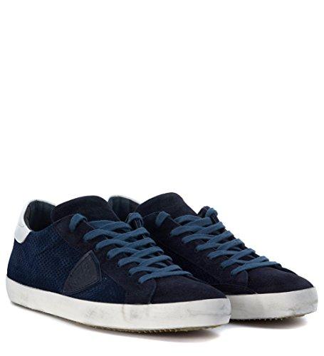 Sneaker Philippe Model Classic en piel perforada azul Azul
