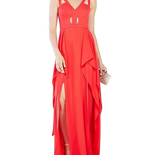 BCBGMAXAZRIA BCBG Max Azria Women's Bodice Cutout Prom Gown Pink 4