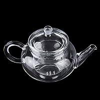 Transparent Teapot Heat Resistant Glass Teapot with Infuser Coffee Flower Tea Leaf Herbal Pot 250ml Durable - Transparent