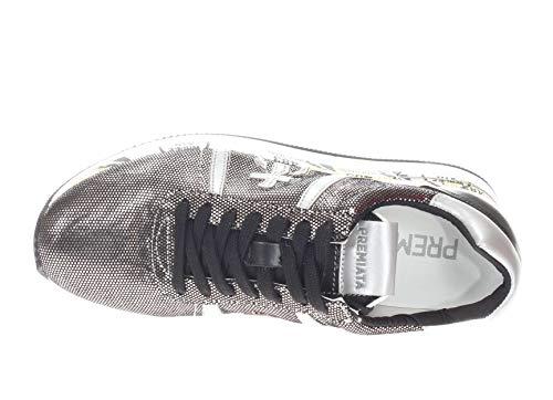 Piccolo Conny Logo Nero Premiata Donna Sneaker argento qTPWxzUn