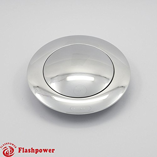 (Aluminum Horn Button for 9-bolt Steering Wheels (Big Polished))