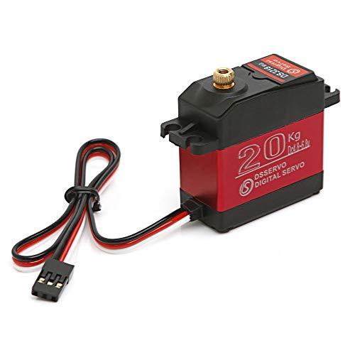 DS3218 270 Degree Digital RC Servo 20KG Torque Waterproof Metal RC Servo Motor (red, 40 x 20 x 40.5 mm)