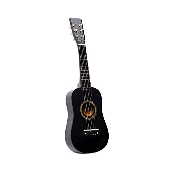 "23"" Acoustic Folk Classic Guitar for Beginners Student Adults Player 6 Strings with Pick Strings Black 41 2BWH6sKBnL"