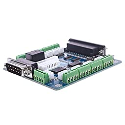 CNC 5 Axis Breakout Board Interface Adapter For Stepper Motor Driver Mill/Input