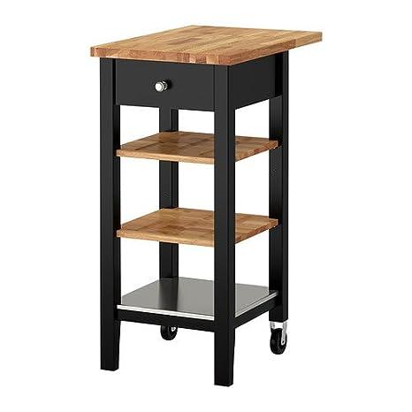 IKEA STENSTORP - carro Cocina, negro-marrón, roble - 45x43x90 cm: Amazon.es: Hogar
