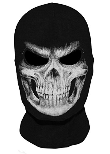 [Paintball Headgear Grim Reaper Full Face Mask Skull Ghost Death Balaclava Costume Motorcycle Halloween Mask Headband Airsoft Hand] (Spectra Costumes)