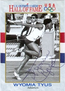 Autograph Warehouse 48296 Wyomia Tyus Autographed Card 1991 Impel No .26 Usa Olympic Gold Medal 67