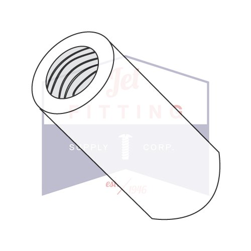 1/4'' OD Round Standoffs (Female-Female) / 6-32 x 3/4'' / Nylon/Outer Diameter: 1/4'' | Thread Size: 6-32 | Length: 3/4'' (Quantity: 1,000 pcs) Made in USA by Jet Fitting & Supply Corp
