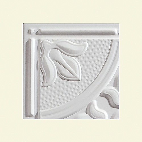 Genesis - Antique White Ceiling Tile - Drop / Grid Ceiling - Fast and Easy Installation (12' x 12' Sample)