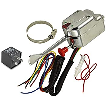 12v universal chrome street hot rod turn signal switch for ford gm buick  street rods with 3 pin led turn blinker light flasher relay