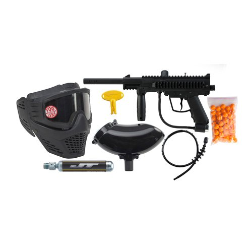 JT Outkast Ready to Play Kit - Black Paintball Marker Players Kit
