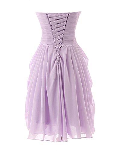 Gowns Prom Dress Party Chiffon Grape Dresses Evening Short Strapless Bridesmaid Cdress Rfz6az