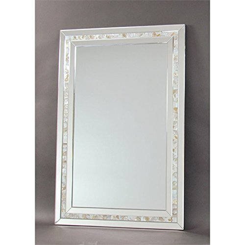 Pemberly Row Mother of Pearl Beveled Accent Mirror by Pemberly Row