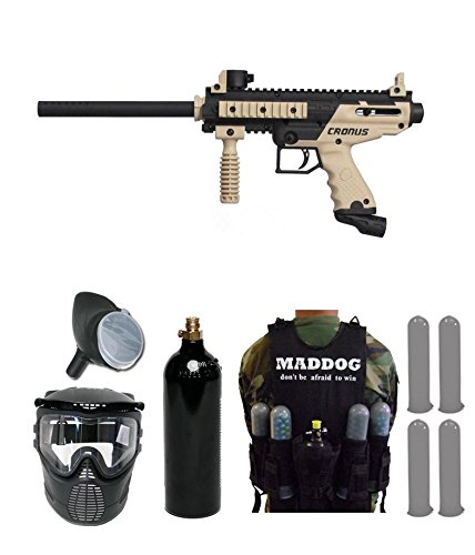 (Tippmann Cronus Paintball Marker Gun -Basic Edition- Tan SWAT Package)