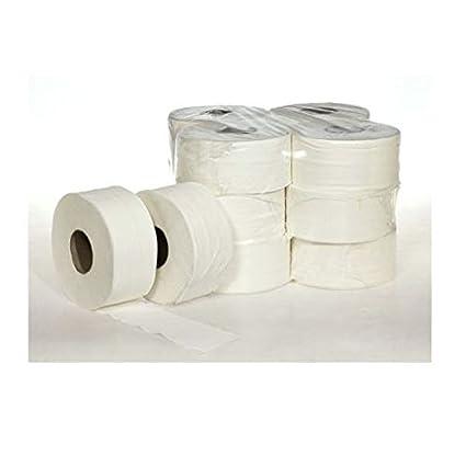 Papel higiénico gigante industrial Mini Jumbo 12 Piezas rollos baño Restaurante Albergo